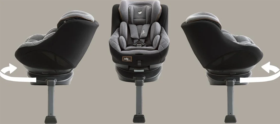 Ghế ngồi ô tô trẻ em Joie Spin 360™ Signature Noir xoay 360 độ rất dễ dàng, cho bé thoải mái suốt chuyến đi
