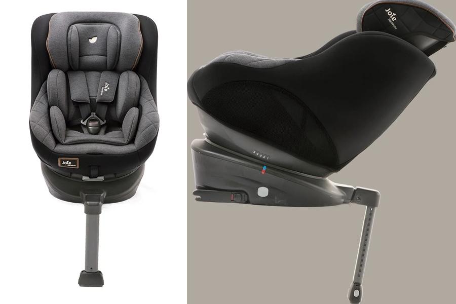 Ghế ngồi ô tô trẻ em Joie Spin 360™ Signature Noir có đệm ghế linh hoạt, 5 góc độ ngả lưng