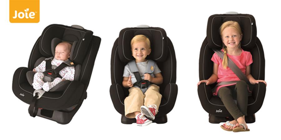Ghế ngồi ô tô trẻ em Joie Stages Cherry sử dụng cho bé từ sơ sinh đến 7 tuổi
