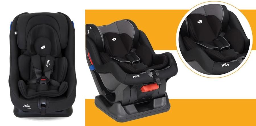 Ghế ngồi ô tô trẻ em Joie Steadi Coal trang bị lớp đệm hỗ trợ cho bé sơ sinh
