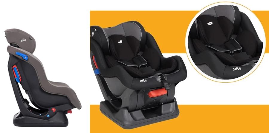Ghế ngồi ô tô trẻ em Joie Steadi Dark Pewter trang bị lớp đệm hỗ trợ cho bé sơ sinh