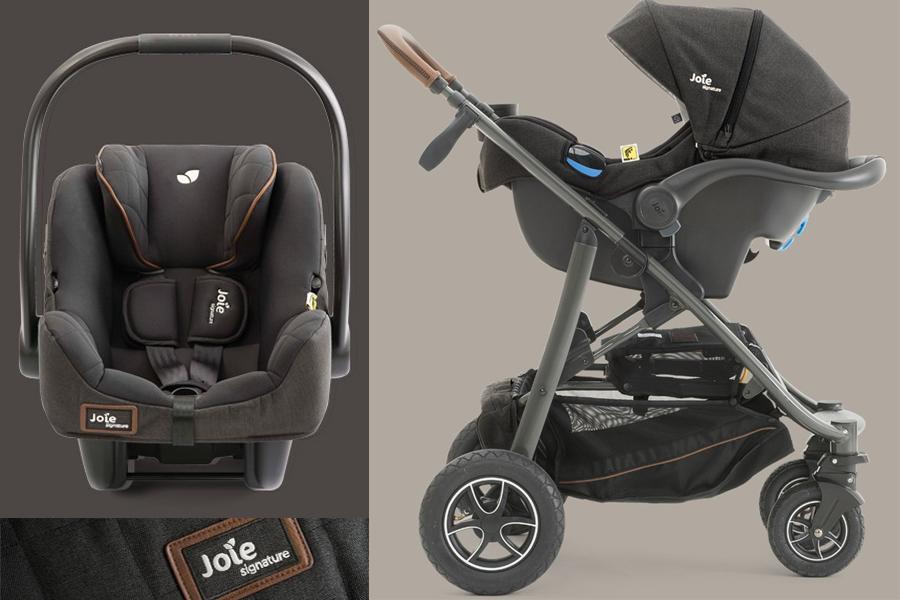 Ghế ngồi ô tô trẻ em Joie i-Gemm™ Signature Noir làm từ chất liệu cao cấp, giúp bảo vệ bé tối ưu, có thể  kết hợp với các sản phẩm xe đẩy Joie khác