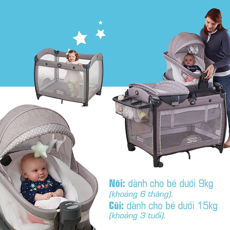 Giường cũi Graco Portable Napper and Changer Day2Dream BS Layne 2034085