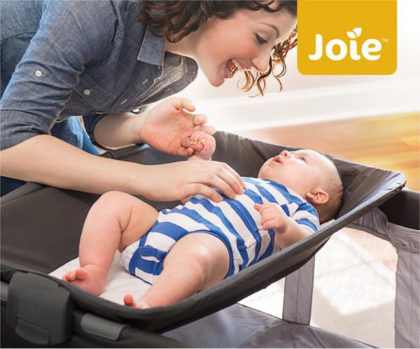 Giường cũi cao cấp Joie Commuter Change – Logan