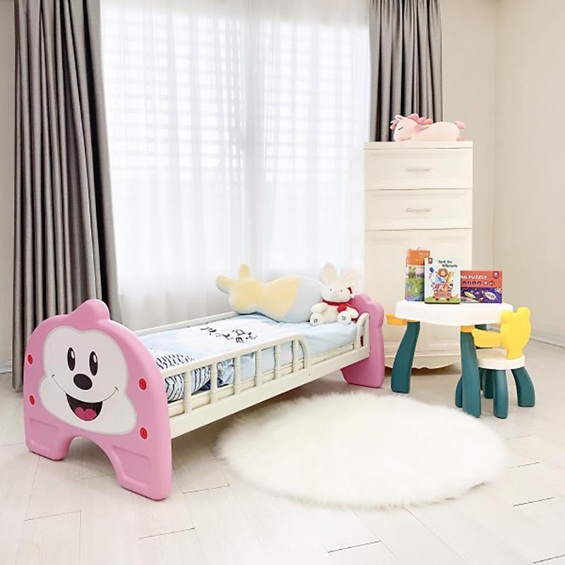 Giường nhựa Holla màu hồng