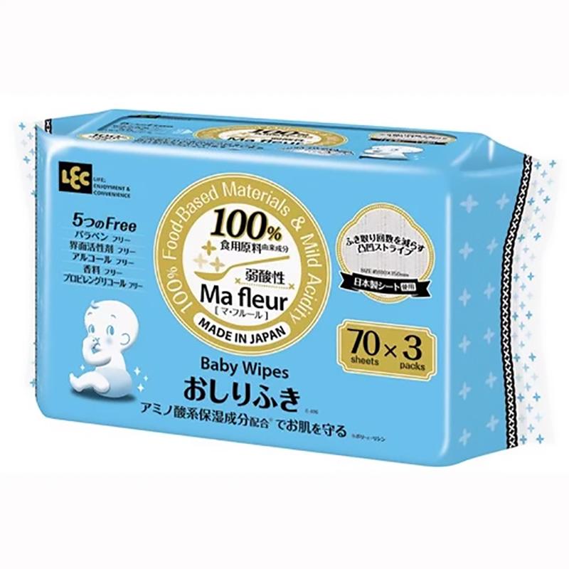 Giấy ướt LEC cao cấp MA Fleur E-496 70 tờ x 3 gói