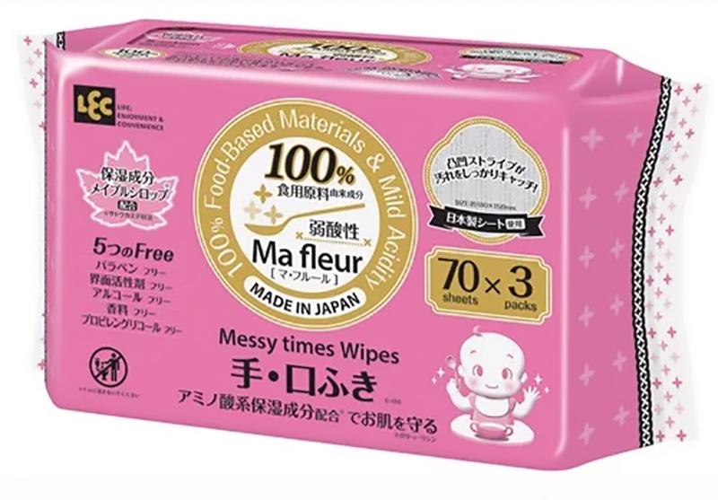 Giấy ướt cao cấp MA Fleur cho tay và miệng E-498 70 tờ x 3 gói
