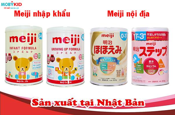 Giúp mẹ phân biệt lựa chọn sữa Meiji nhập khẩu liên doanh & Meiji nội địa chính xác và nhanh nhất