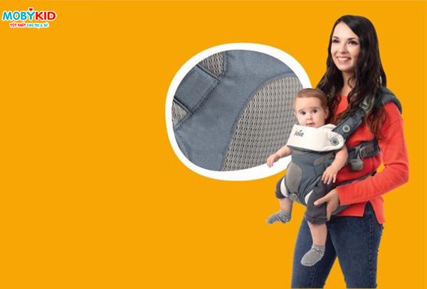 Hướng dẫn sử dụng địu em bé 4 tư thế Joie Savvy đúng cách
