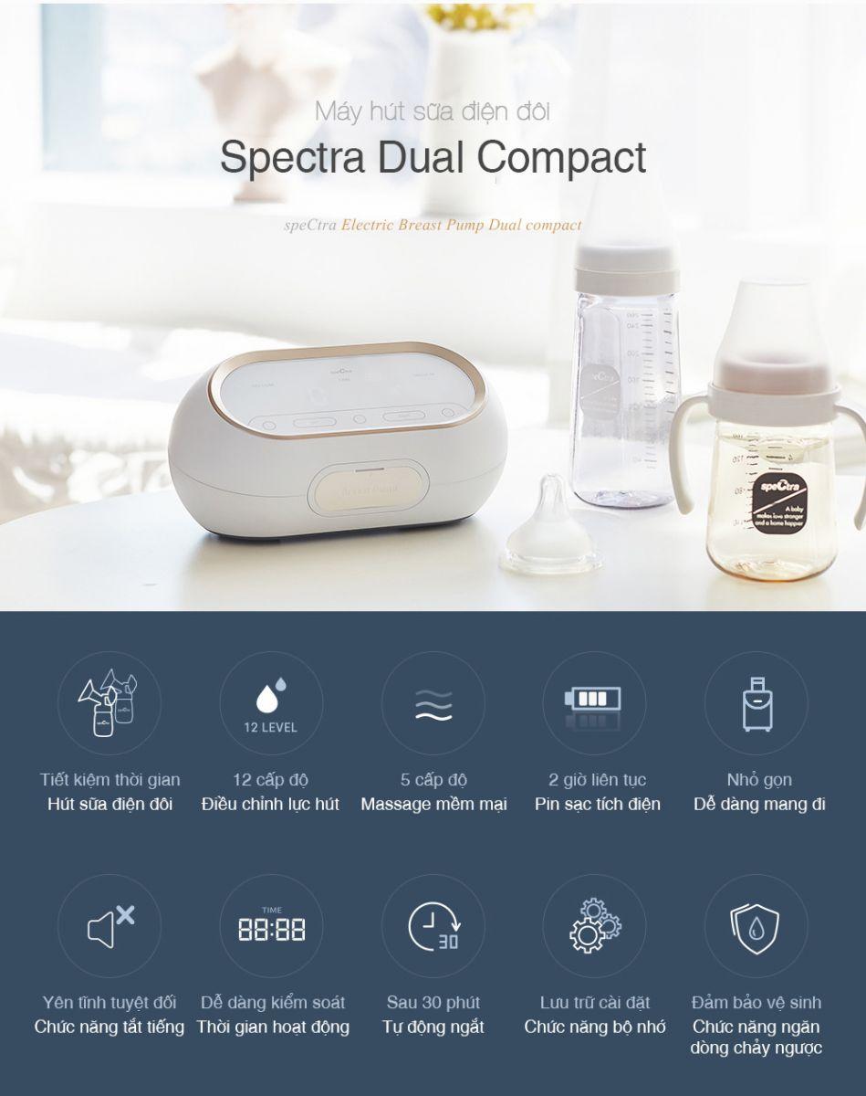 Máy hút sữa điện đôi kép Spectra Dual Compact