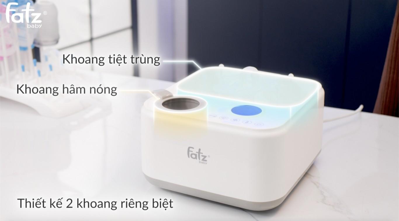 Máy tiệt trùng sấy khô hâm sữa điện tử có tích hợp máy hâm sữa Fatzbaby - Captain 1 - FB4320SJ