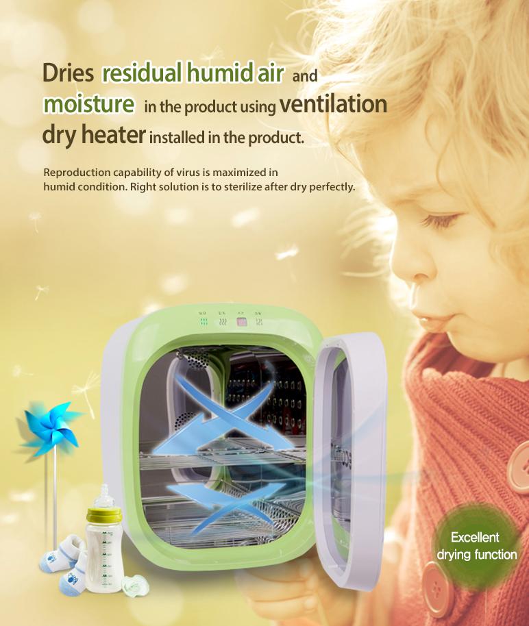 Máy tiệt trùng sấy khô khử mùi bằng tia UV Ecomom ECO-22 Plus - Màu Xanh Lá