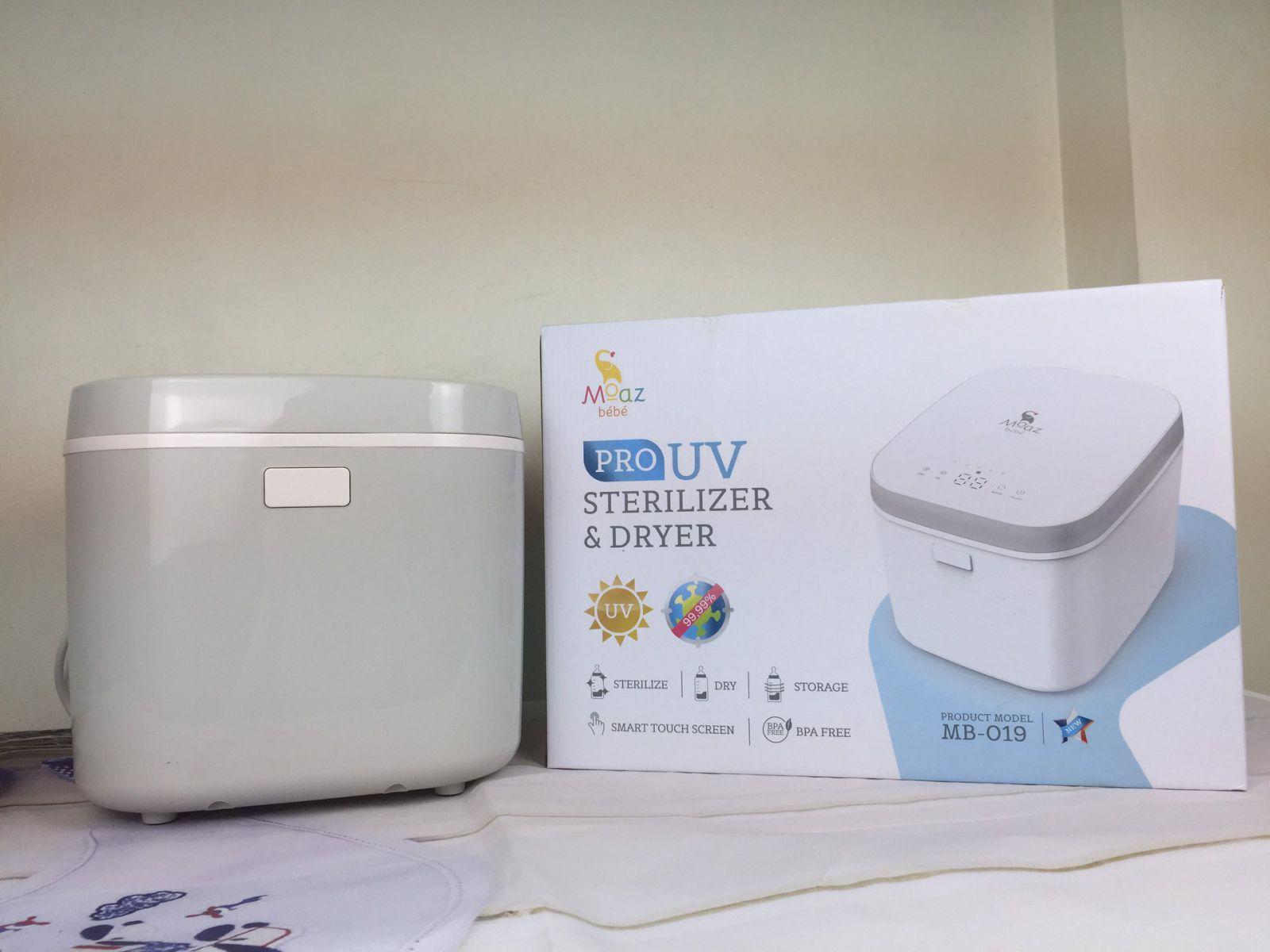 Máy tiệt trùng sấy khô tia UV Moaz BéBé MB-019 Màu xanh xám