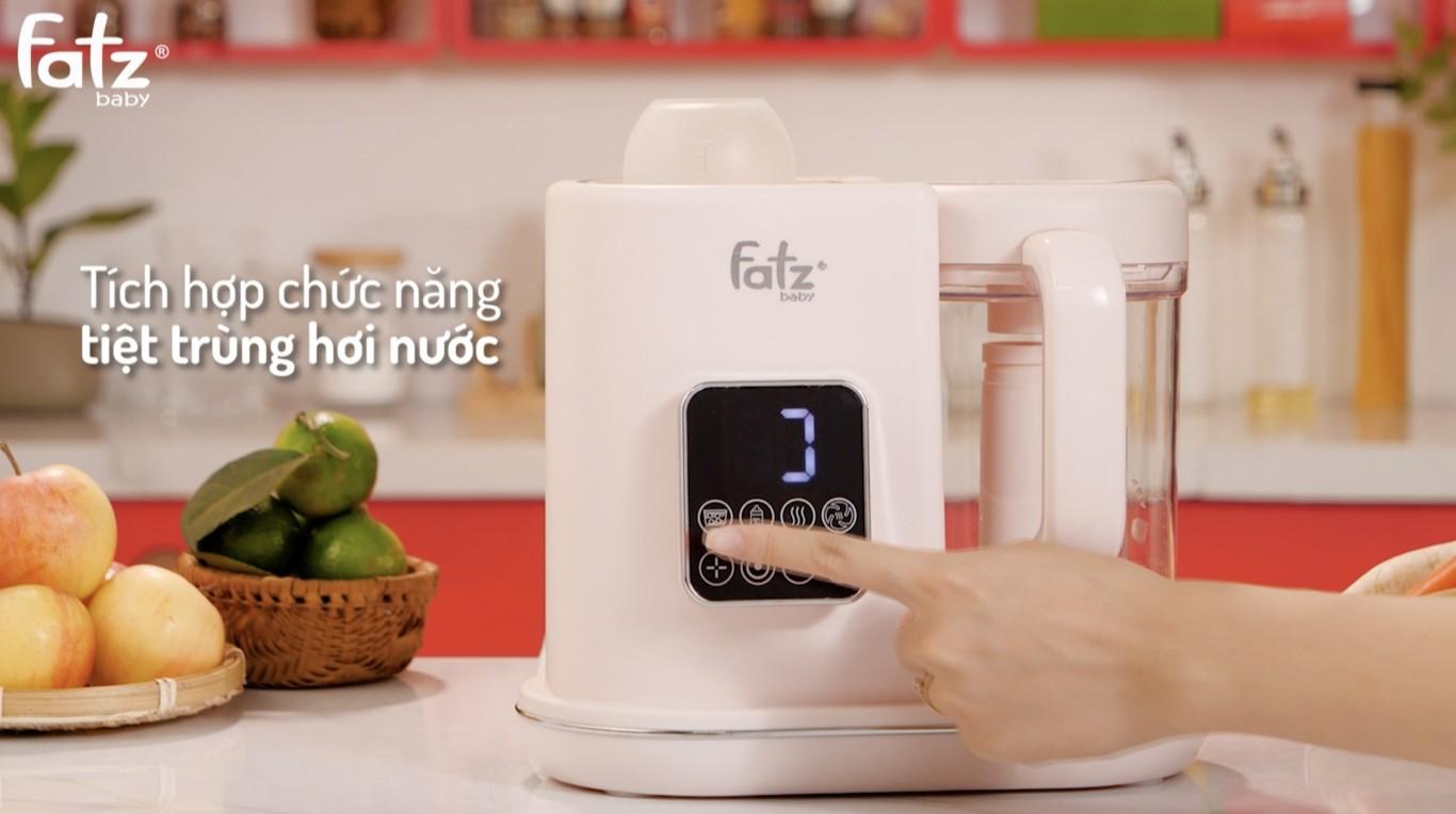 Máy xay và hấp thức ăn dặm điện tử đa năng Fatzbaby Auto 3 FB9617KM