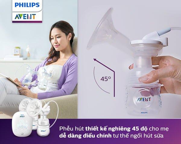 Máy Hút Sữa Bằng Điện Đôi Philips Avent SCF303/01