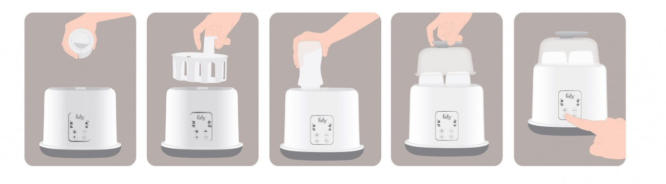 Máy hâm sữa tiệt trùng 2 bình điện tử - DOU2 - FB3223SL