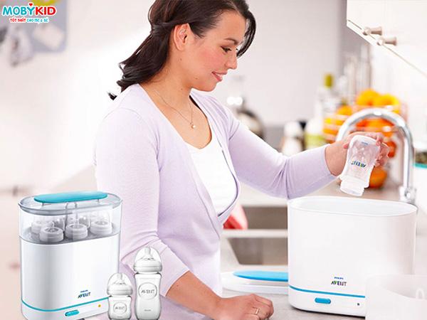 Máy tiệt trùng và sấy khô bình sữa bằng tia UV và bằng hơi nước loại nào tốt, nên mua loại nào?