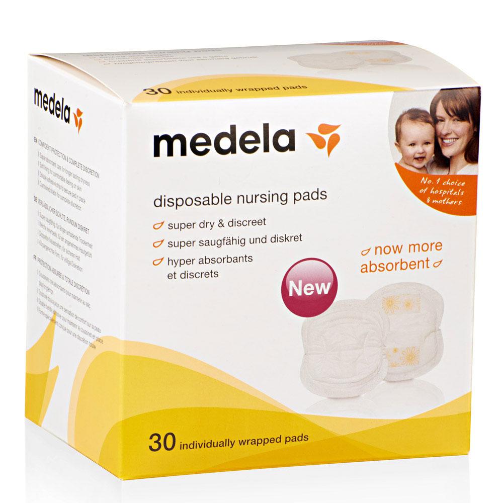 Miếng lót sữa dùng 1 lần Medela ( 30 miếng/ hộp) loại mới (Trắng)