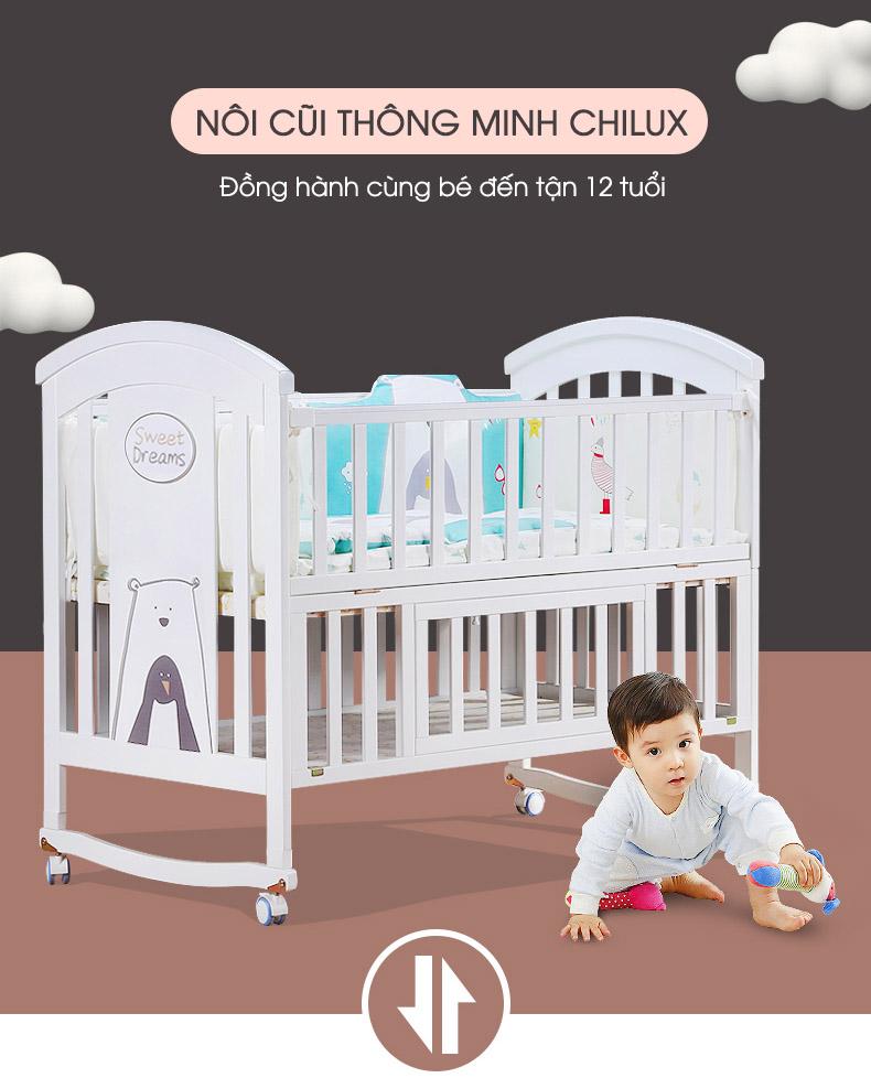 Nôi cũi em bé đa năng Chilux - NCT01