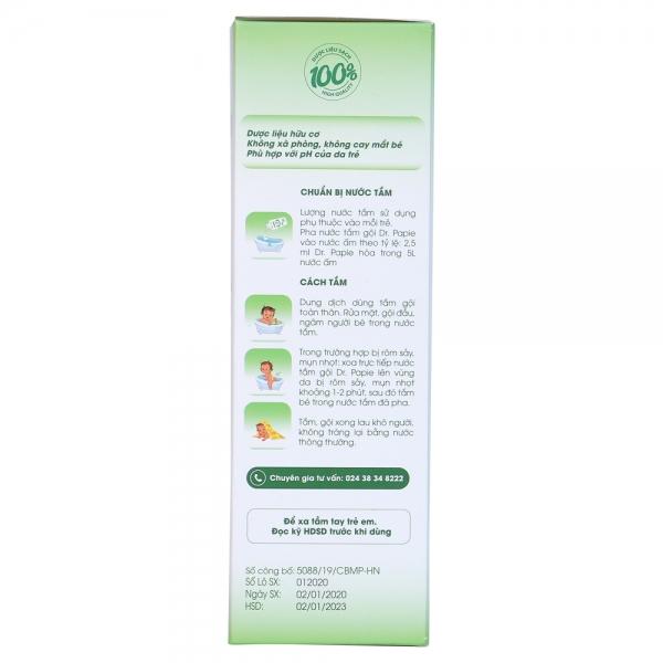 Nước tắm gội thảo dược Dr.Papie 230ml