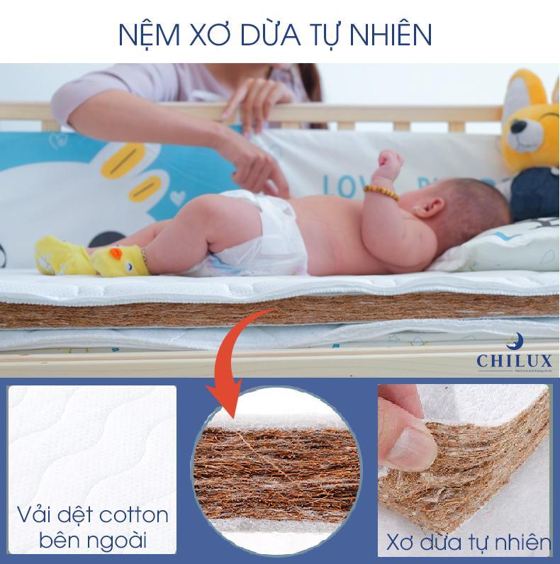 Nôi cũi em bé đa năng 6 chế độ Chilux NC1-1