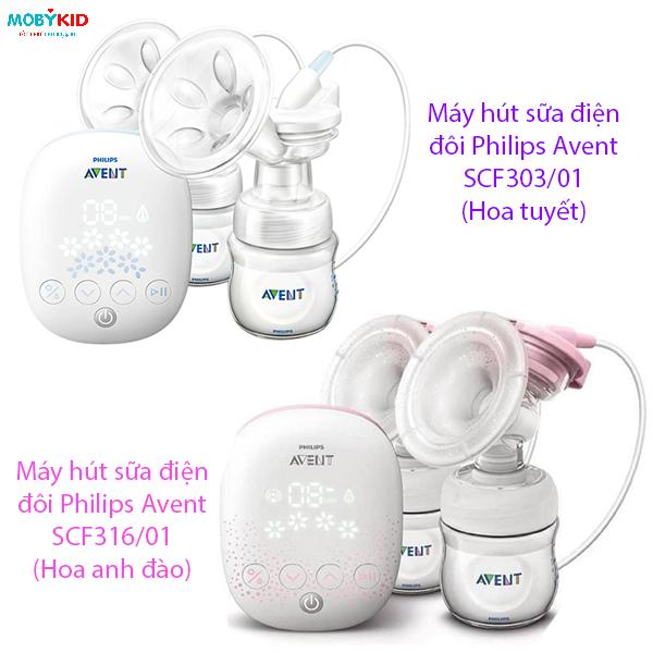 Phân biệt máy hút sữa Philips Avent hoa tuyết và Philips Avent hoa anh đào, nên mua máy nào?