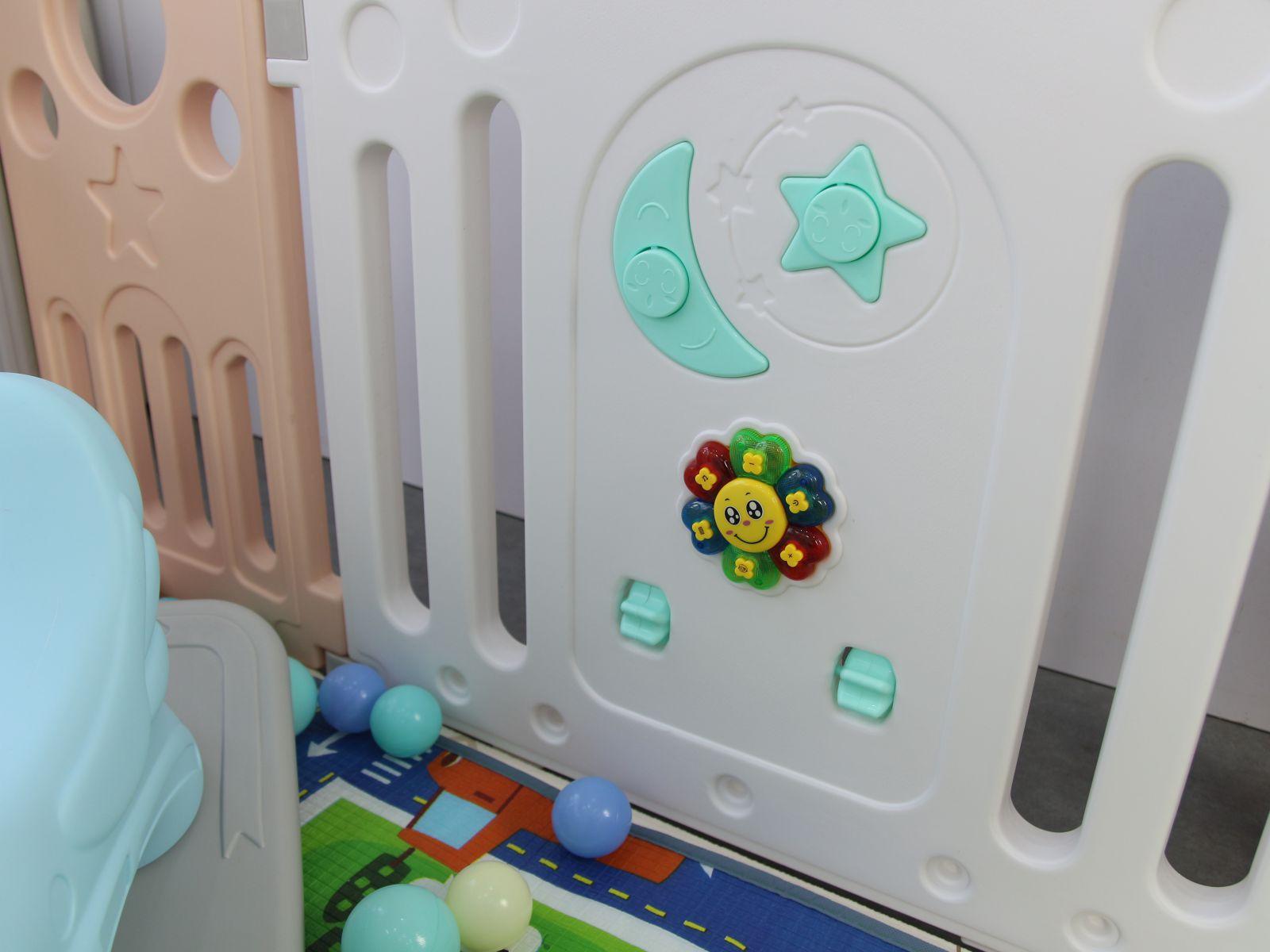Quây bóng cho bé Toyshouse, KT 150*188*70cm, có kèm thảm và 100 bóng