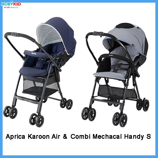 so sánh xe đẩy em bé Aprica và xe đẩy em bé Combi