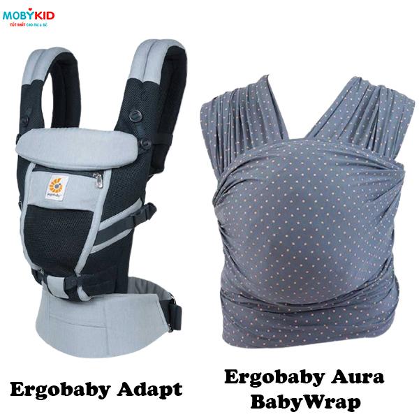 Review từ A đến Z địu cho bé Ergobaby Adapt và Aura Baby Wrap mới ra mắt có gì hot?