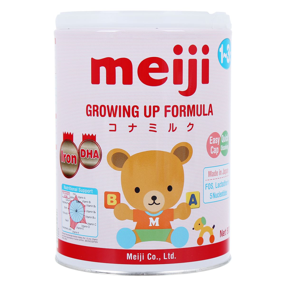 Sữa Meiji Growing Up Formula 800g số 9 (1 - 3 tuổi)