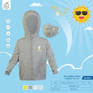 SC001.1 - Áo chống nắng chống tia UV cho bé La Pomme - Màu xám