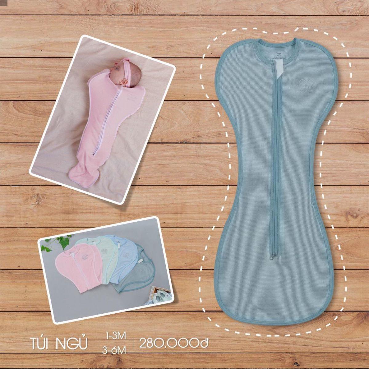 TN001.Green- Túi ngủ cho bé - Bu