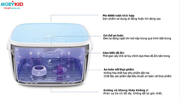 Top các máy tiệt trùng bằng tia UV có sấy khô tốt nhất Việt Nam hiện nay mẹ nên mua ngay