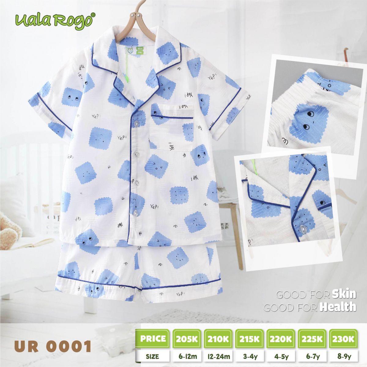 UR0001.1- Set đồ pijama cho bé xanh dương