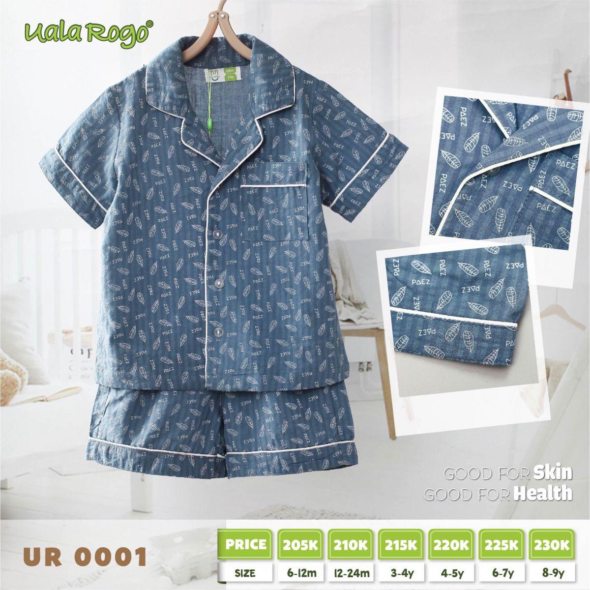 UR0001.2- Set đồ pijama cho bé xanh