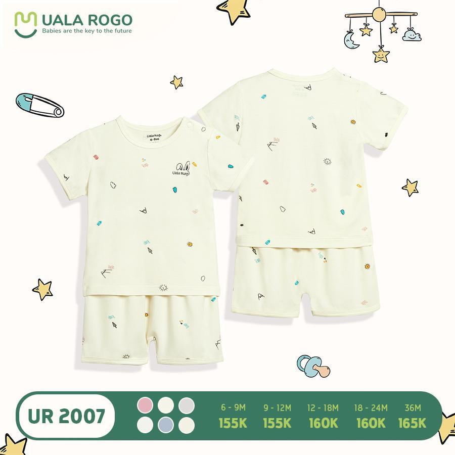UR2007.5 - Bộ quần áo cộc tay Uala Rogo - Màu kem