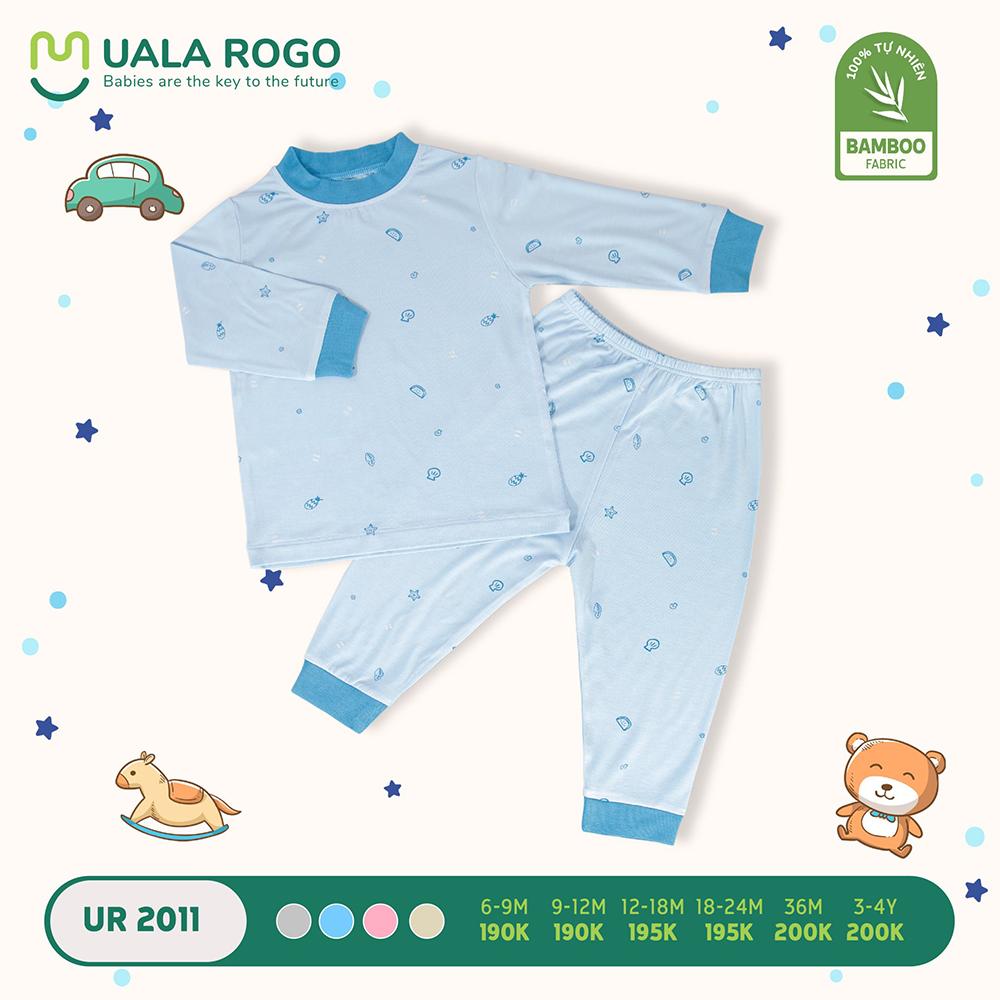 UR2011.4 - Bộ áo cổ lọ và quần giữ nhiệt vải sợi tre Uala Rogo - Xanh