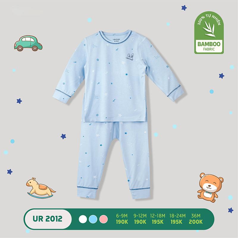 UR2012.1 - Bộ quần áo dài tay vải sợi tre Uala Rogo - Màu xanh