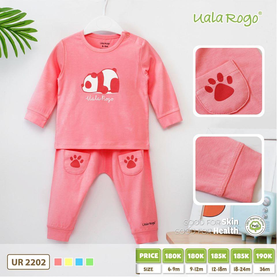 UR2202. 4- Set đồ dài gấu hồng Uala Rogo