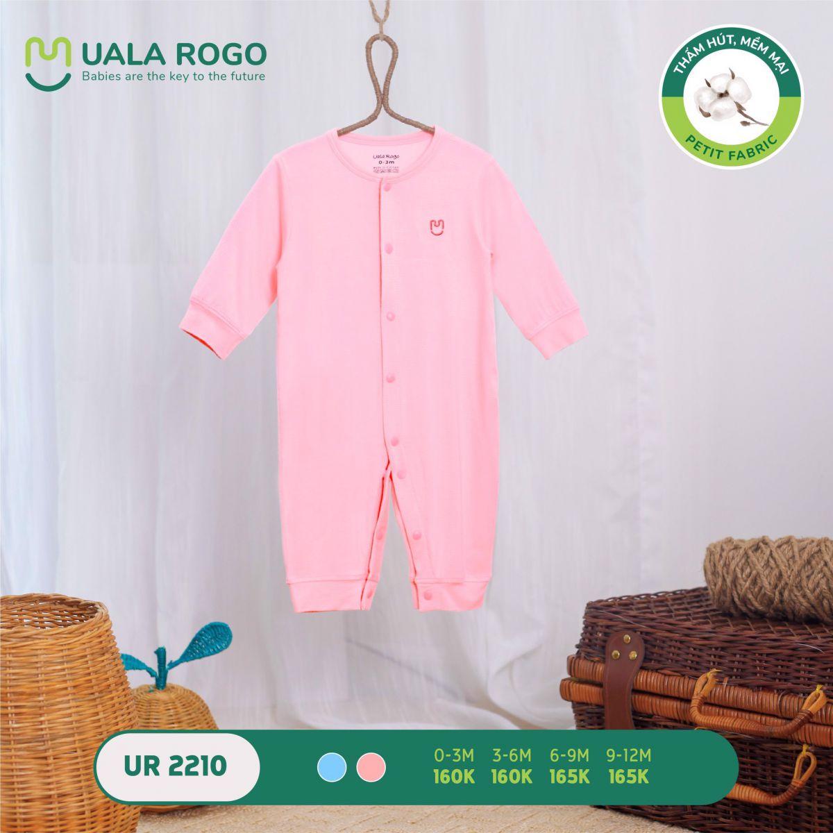 UR2210.1 - Bộ body dài vải petit Uala Rogo - Màu hồng