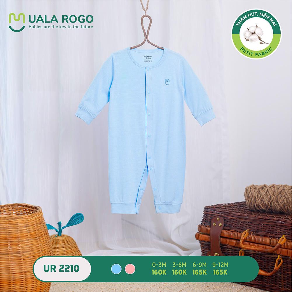 UR2210.2 - Bộ body dài vải petit Uala Rogo - Màu xanh