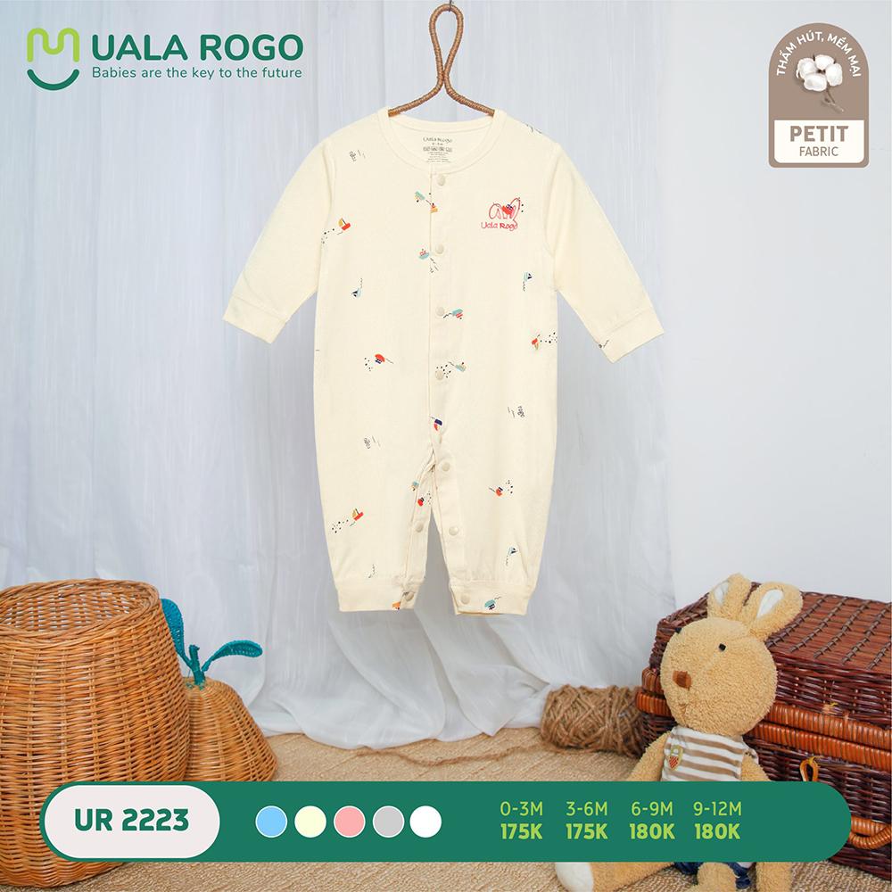 UR2223.1 - Bộ body dài vải petit Uala Rogo - Màu be