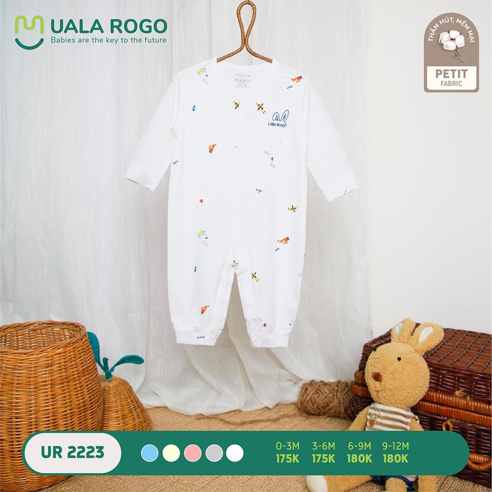 UR2223.3 - Bộ body dài vải petit Uala Rogo - Màu trắng