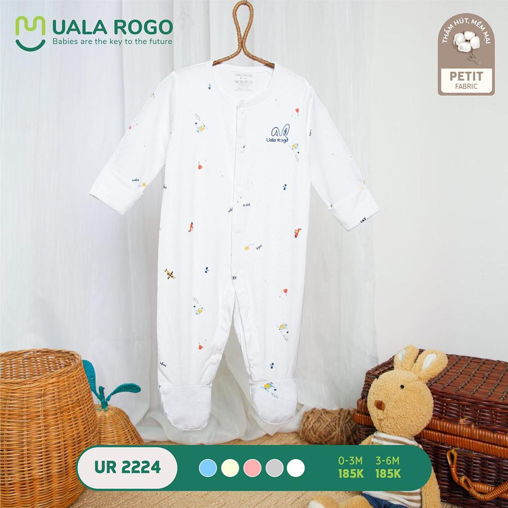 UR2224.2 - Bộ body dài vải petit Uala Rogo - Màu trắng
