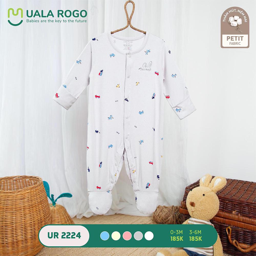 UR2224.5 - Bộ body dài vải petit Uala Rogo - Màu xám