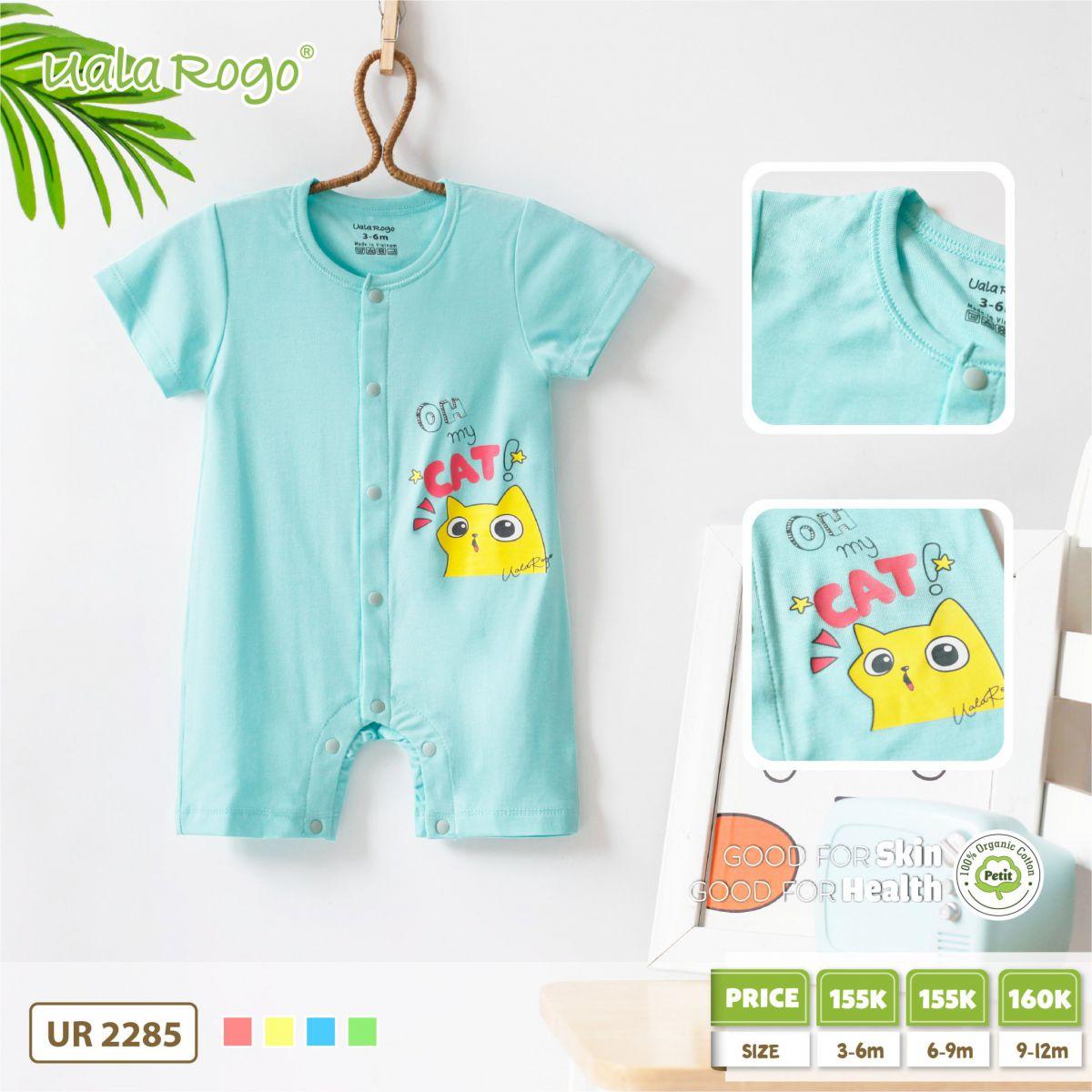 UR2285.3 - Set body vải Petit mèo xanh dương Uala Rogo