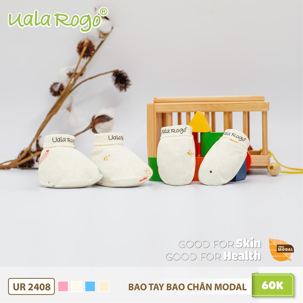UR2408.2 - Bao tay bao chân Modal Uala Rogo màu trắng