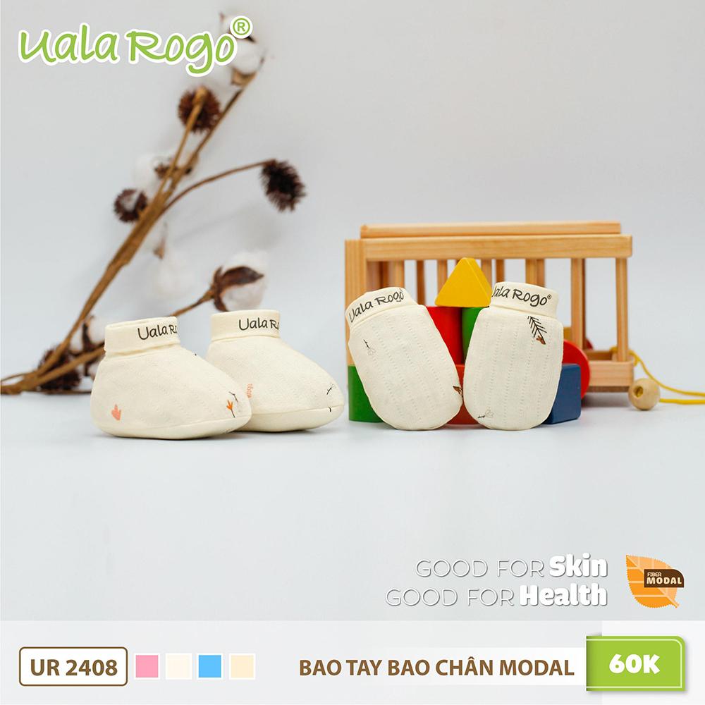 UR2408.3 - Bao tay bao chân Modal Uala Rogo màu be
