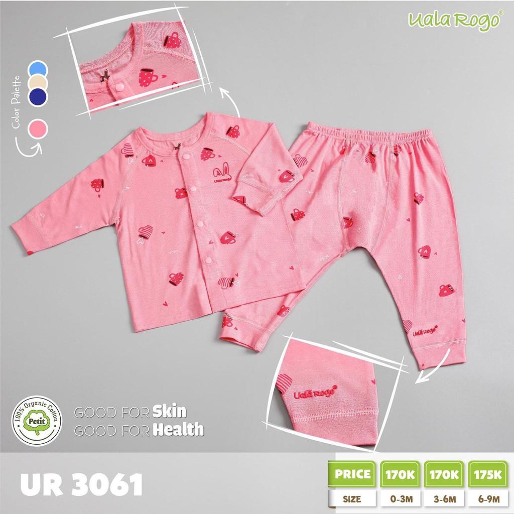 UR3061.4 - Bộ cài nút giữa cho bé - Màu hồng