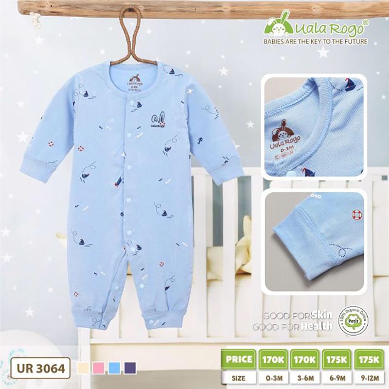 UR3064.1 - Bộ body dài vải Petit Uala Rogo - Màu xanh nhạt